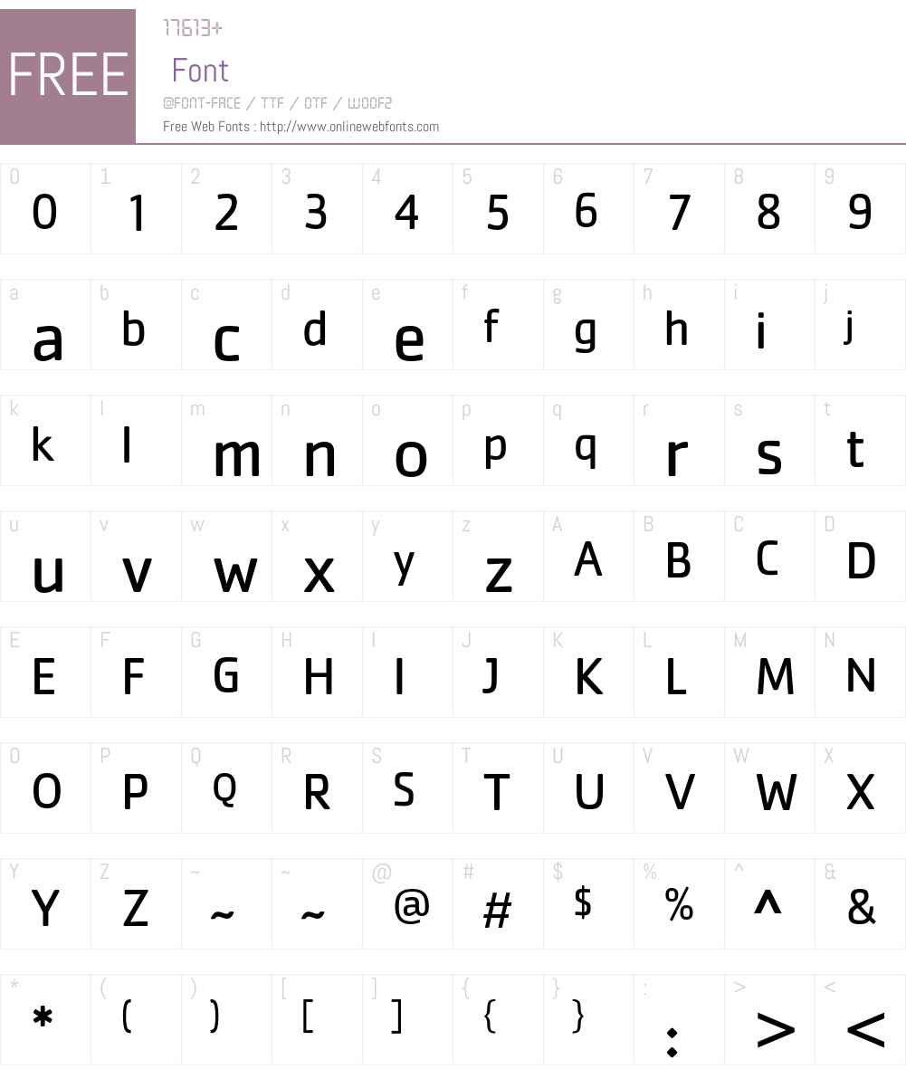 Cachet Std Font Screenshots