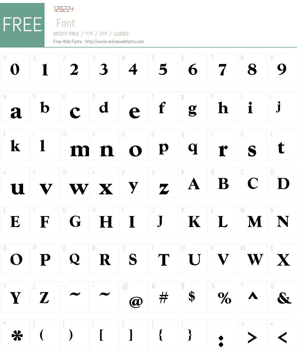 GoudyTOTW01-Bold Font Screenshots