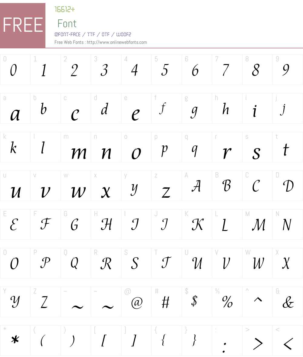 Bella Font Screenshots