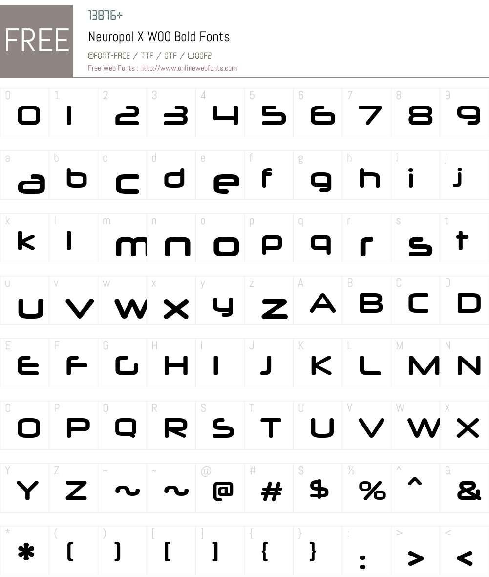 NeuropolXW00-Bold Font Screenshots