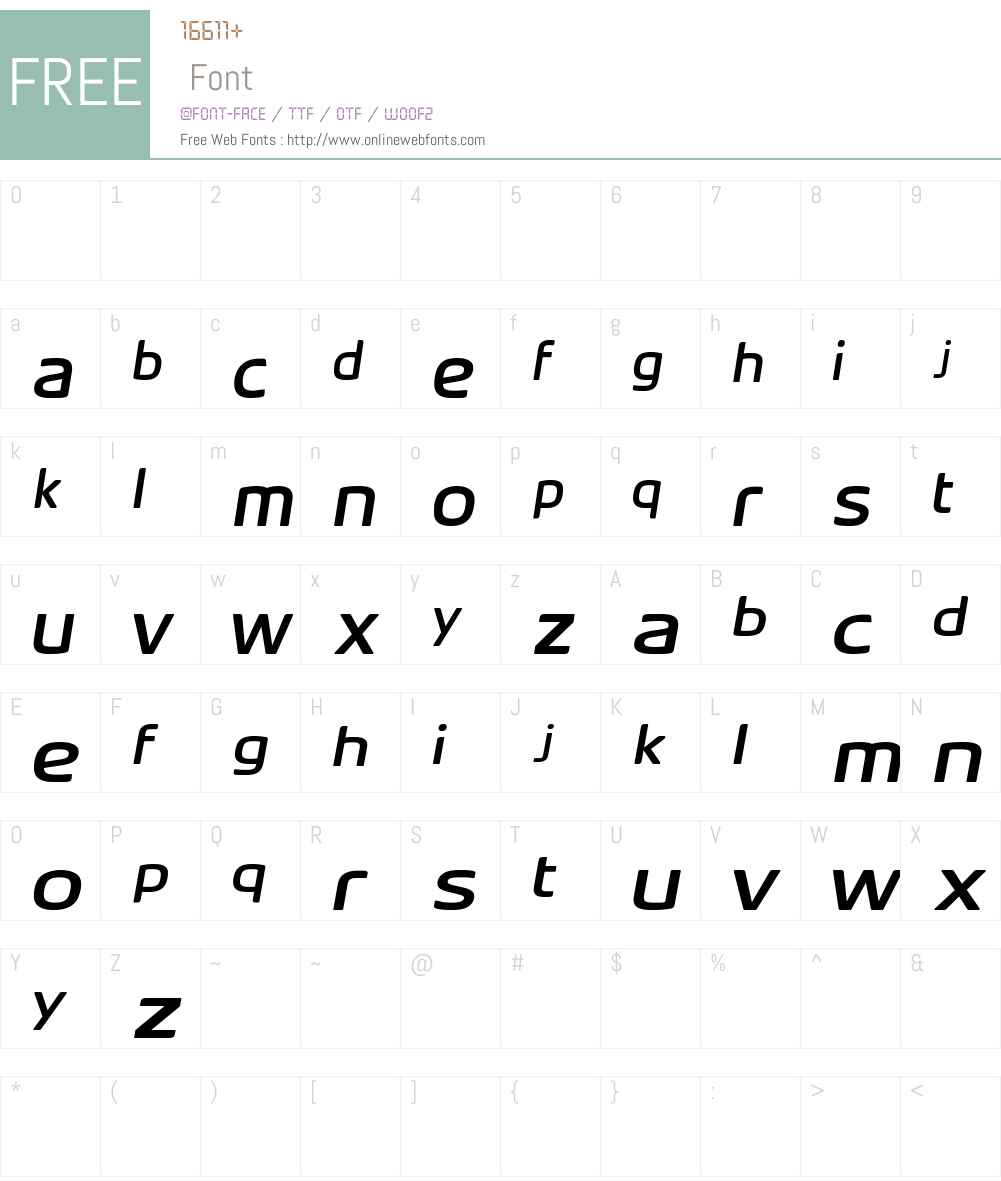 Acer Supplement Font Screenshots