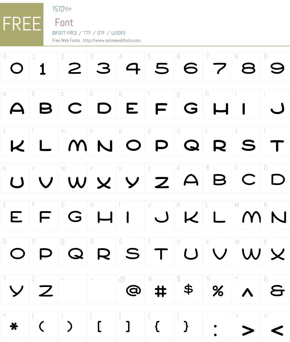 Compur Font Screenshots