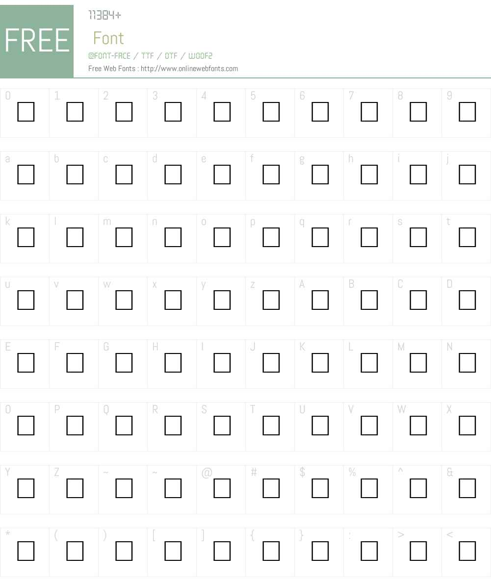 DISSENT Font Screenshots