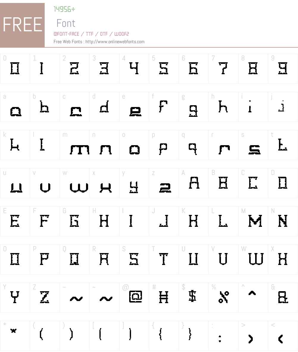 CRYSTAL Soldier Font Screenshots