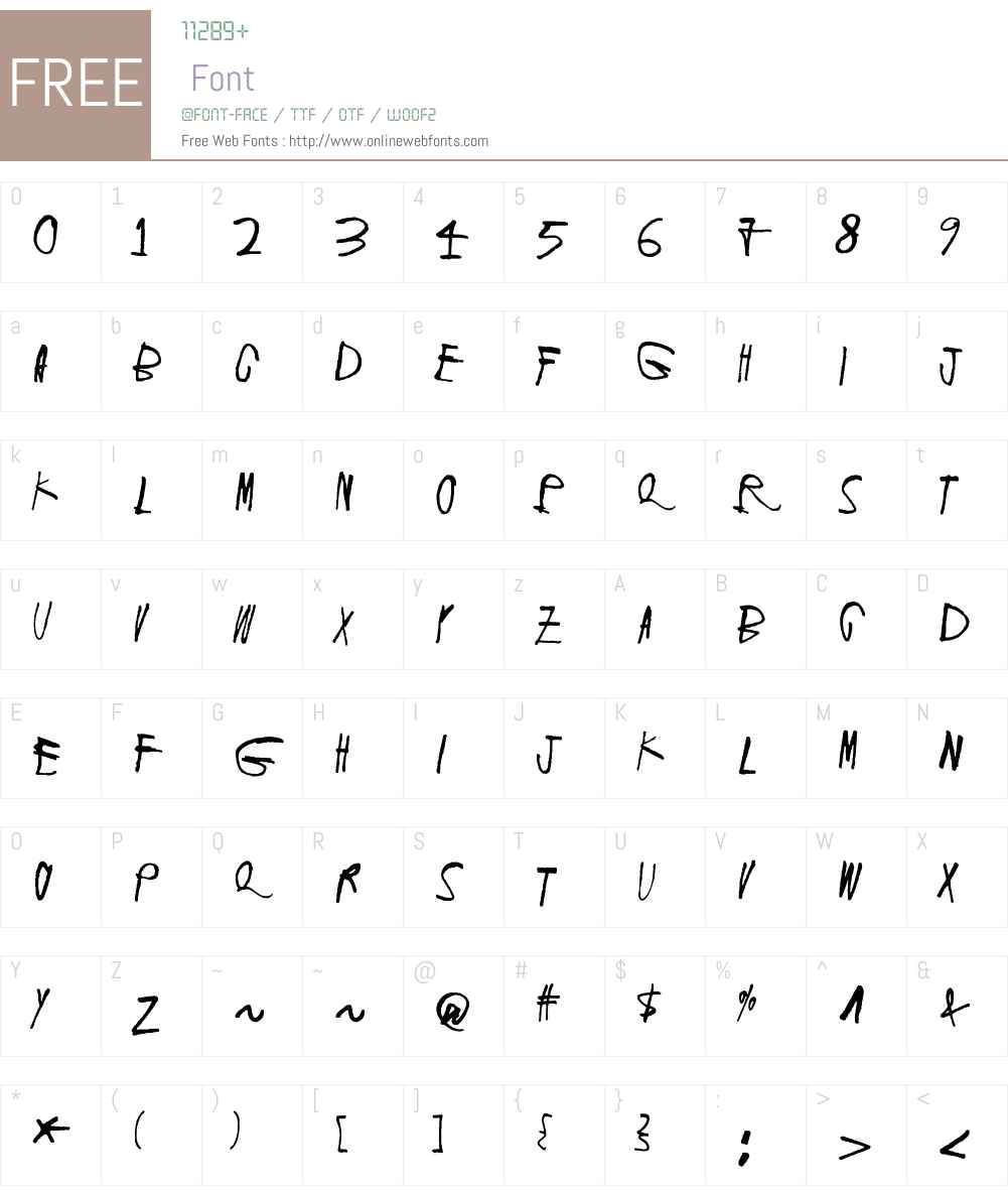 Screaming Red 2 Font Screenshots