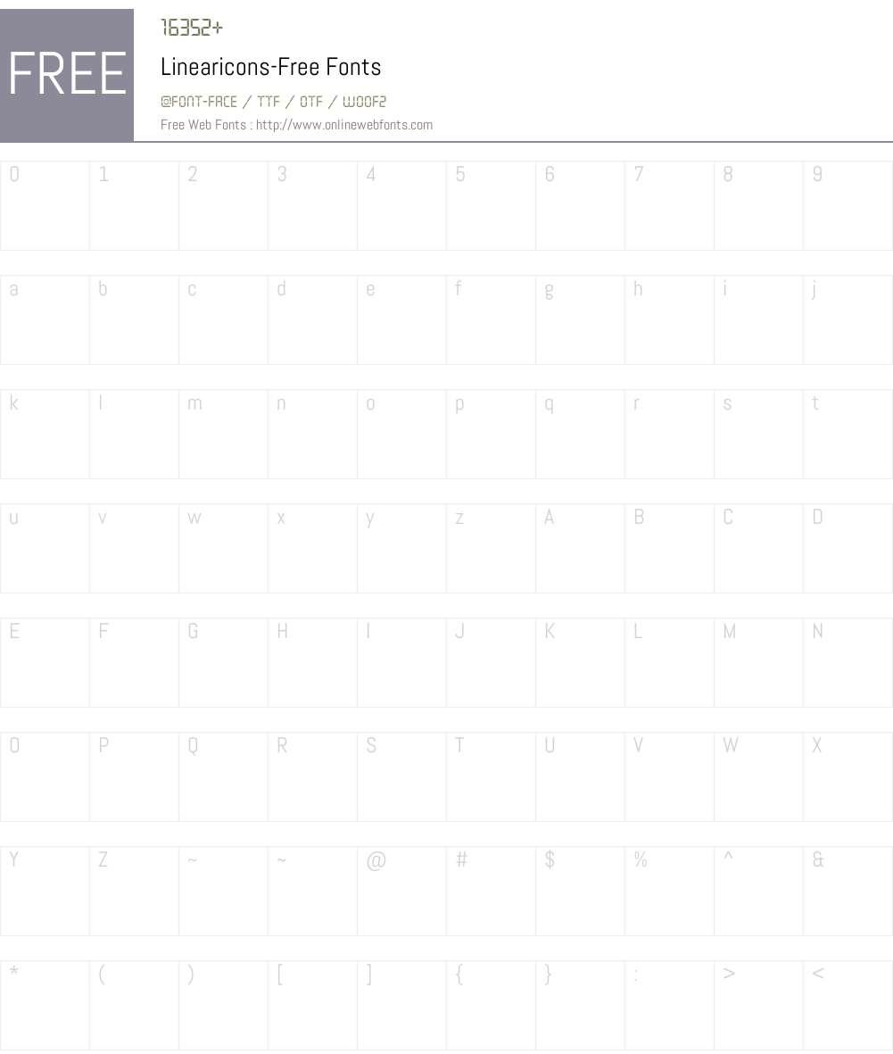 Linearicons-Free Font Screenshots