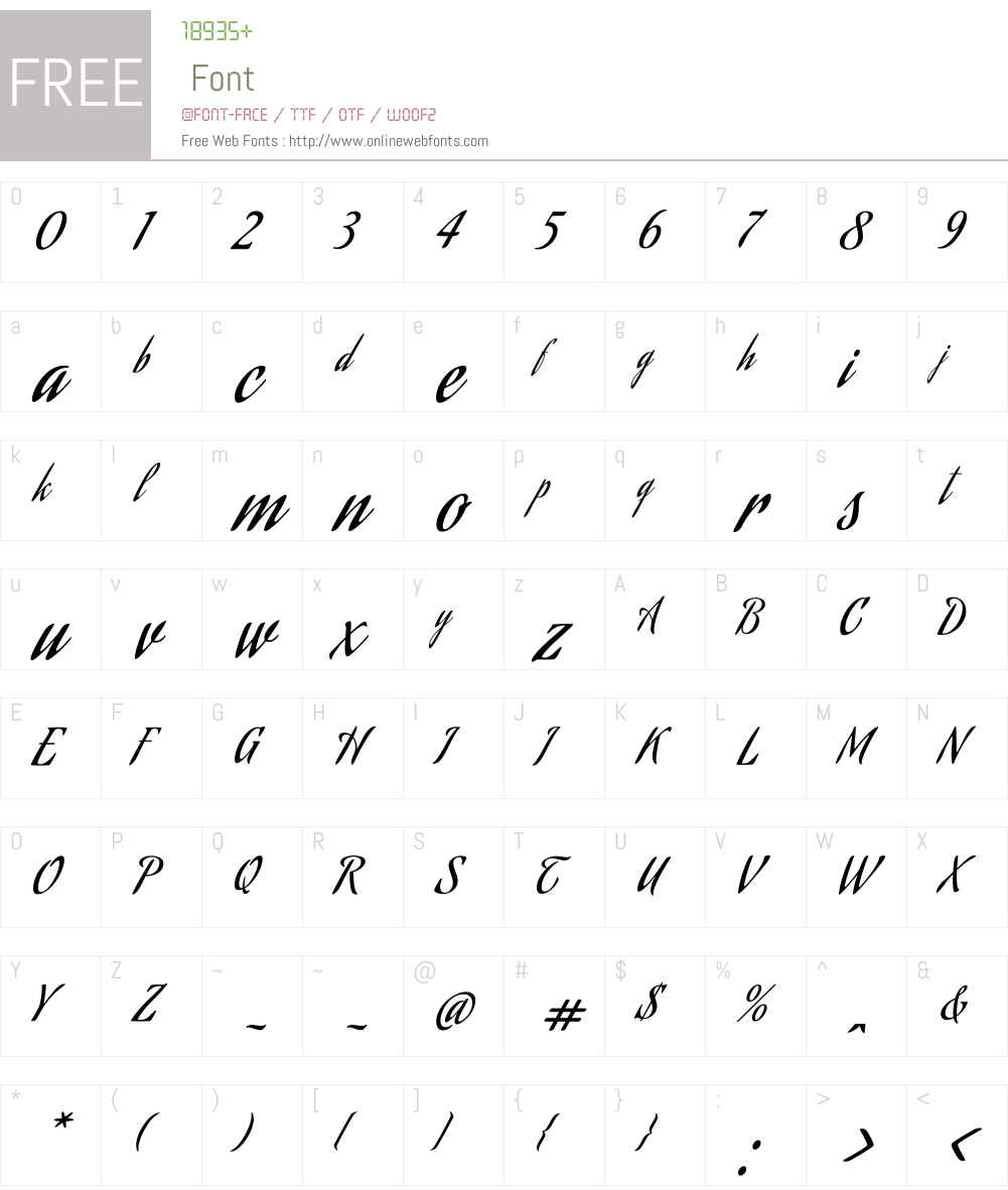 Aguafina Script Font Screenshots
