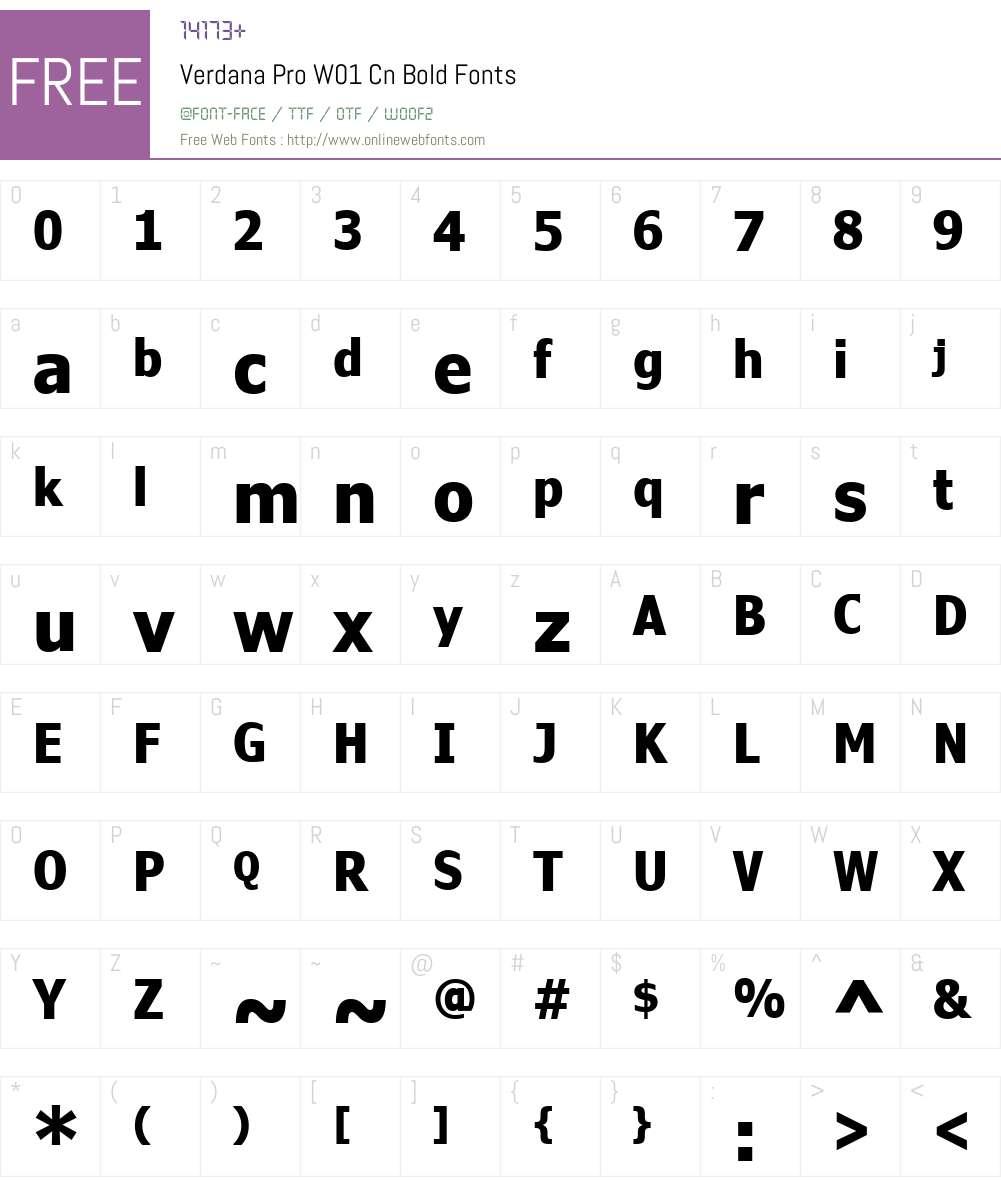 VerdanaProW01-CnBold Font Screenshots