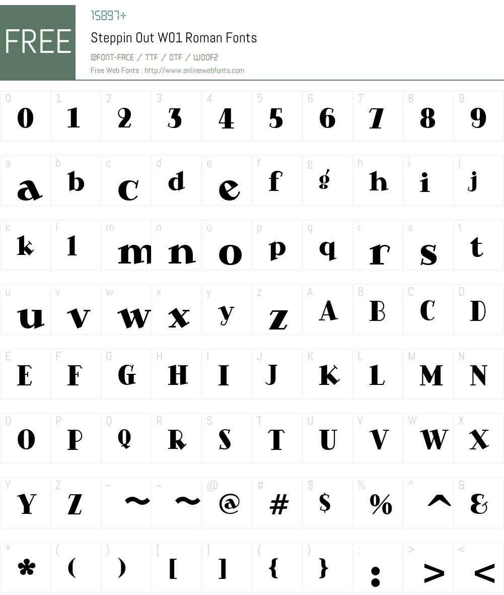 SteppinOutW01-Roman Font Screenshots