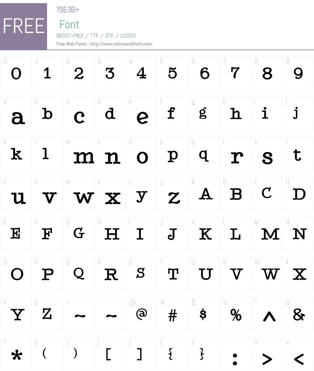 TypenradBold Font Screenshots