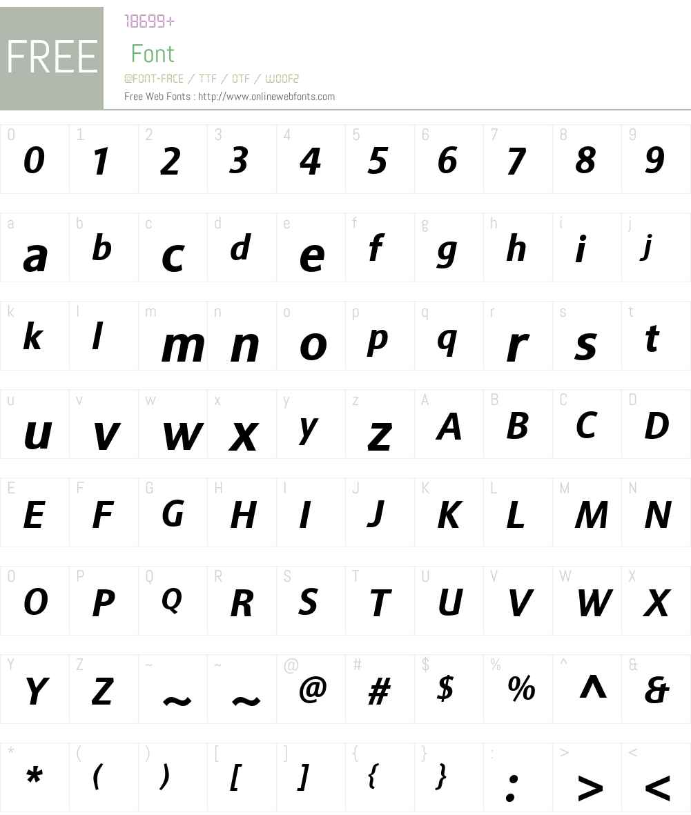 SinovaW01-BoldItalic Font Screenshots