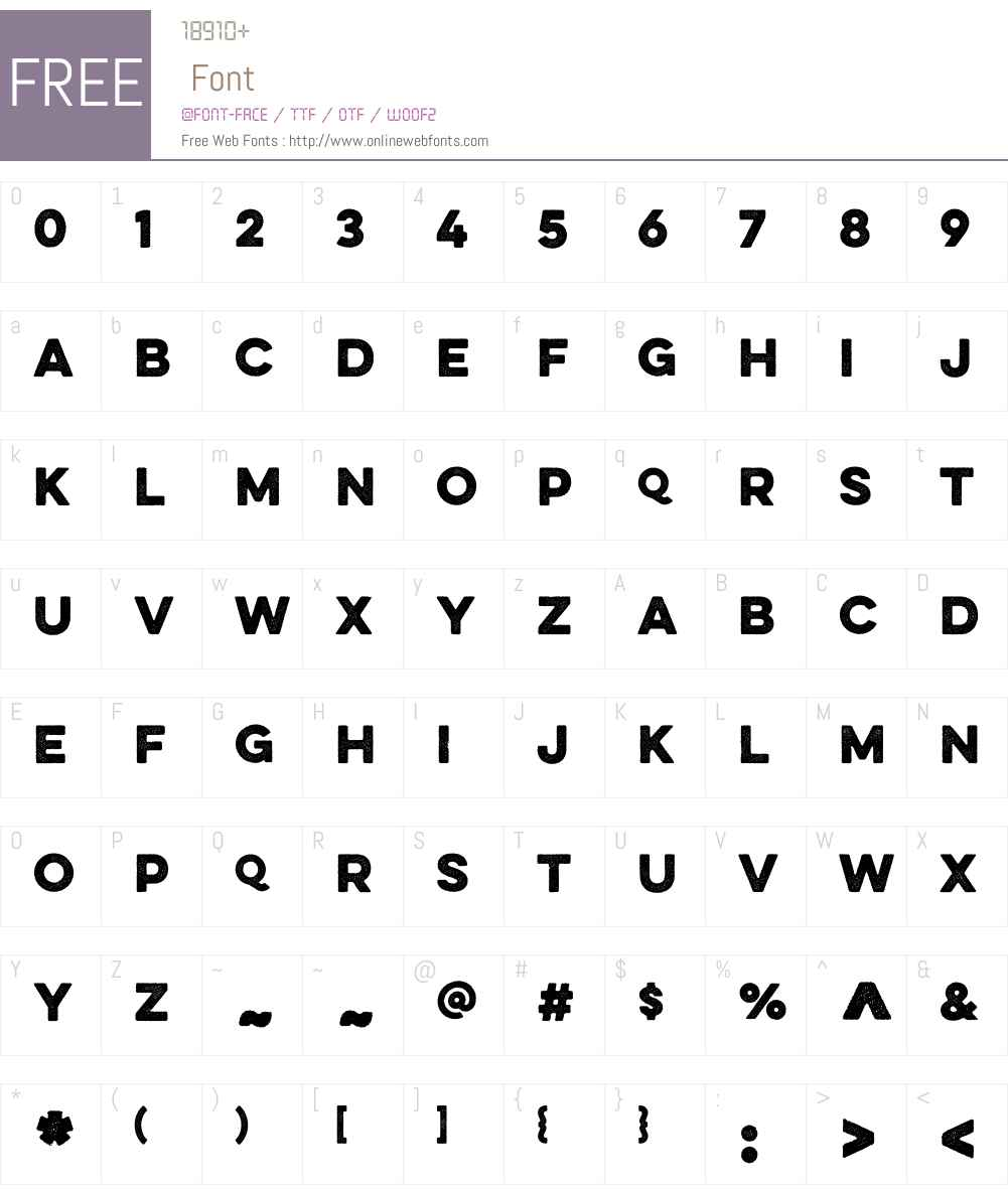 EvelethDotW01-Bold Font Screenshots