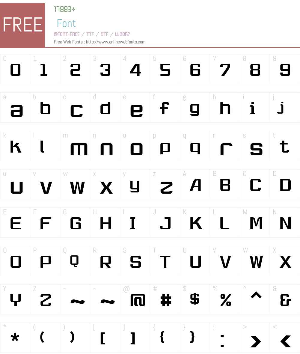 RobustikRegular Font Screenshots