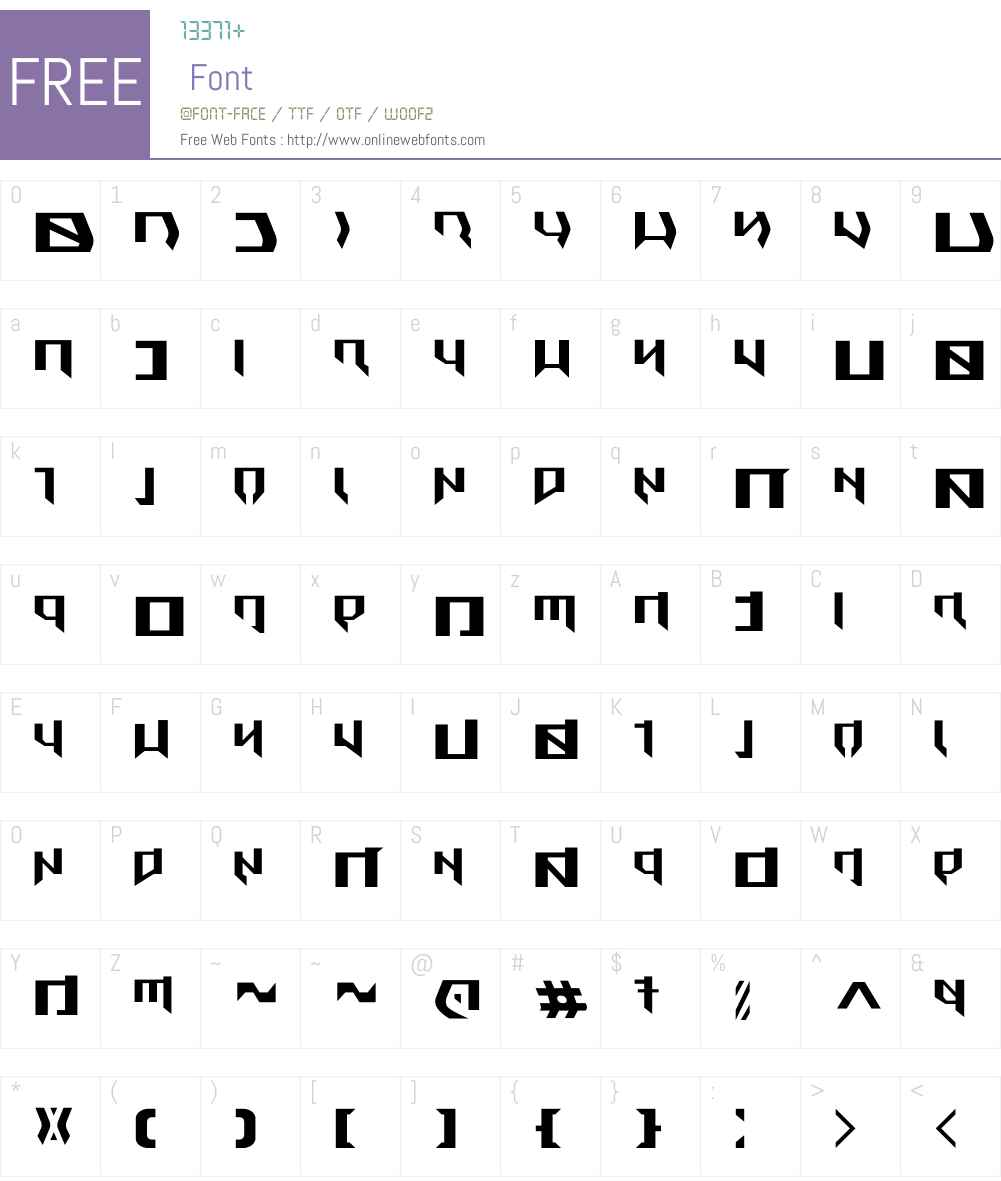 Metal Rebel Font Screenshots