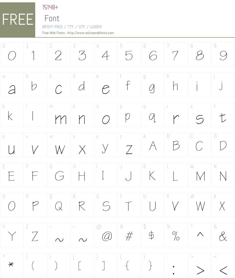 Notetaker Font Screenshots