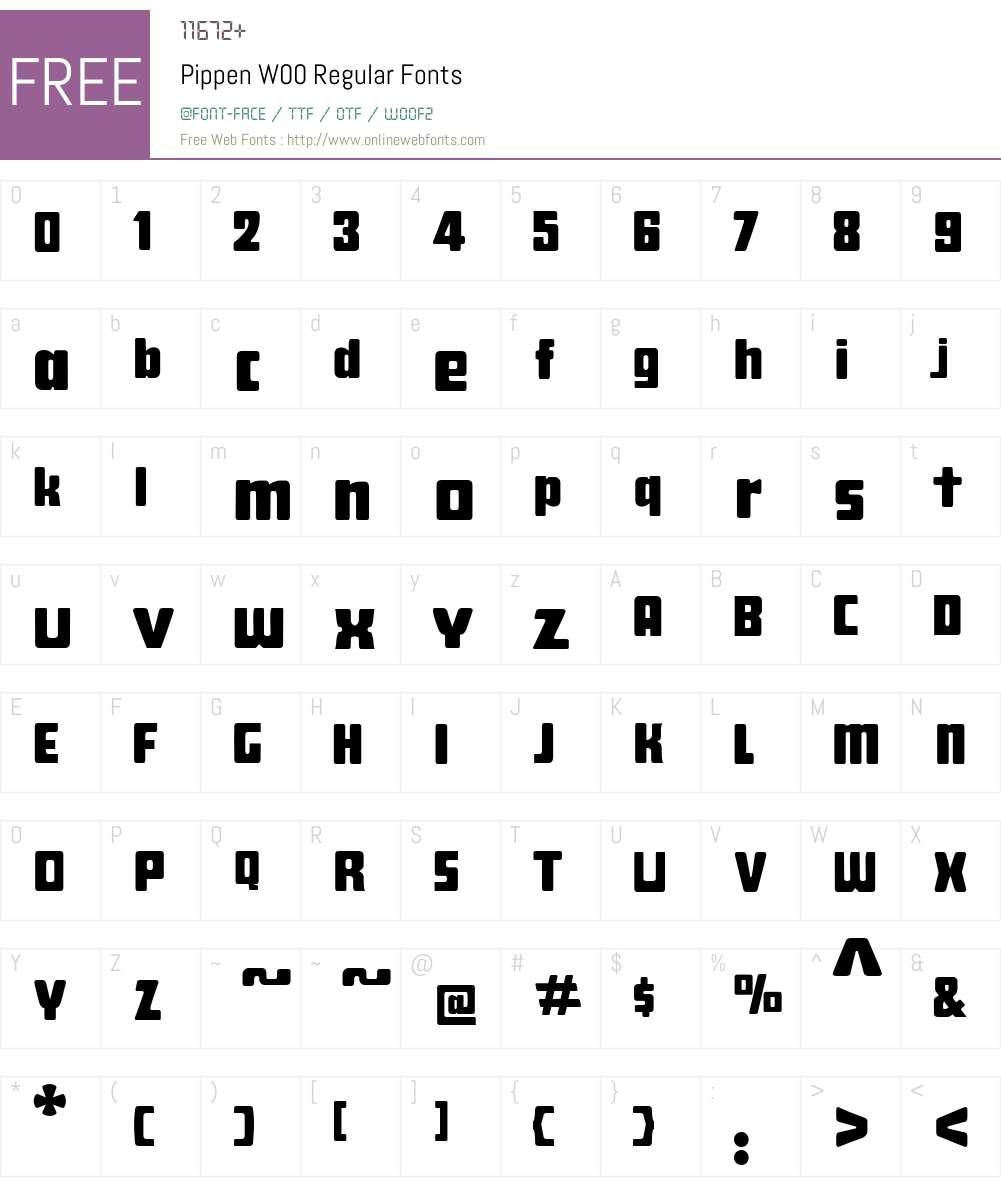 Pippen Font Screenshots