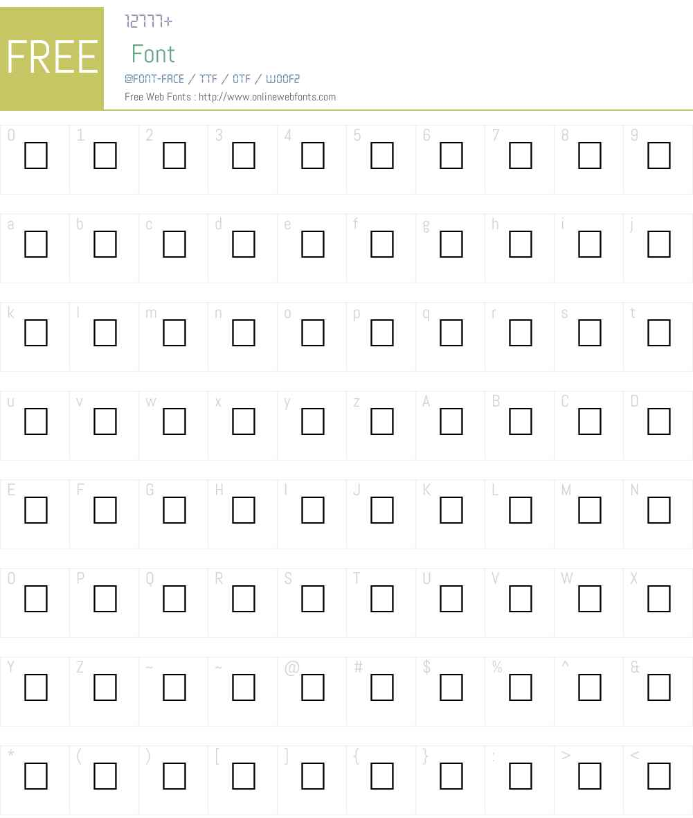 FULLERTON Font Screenshots