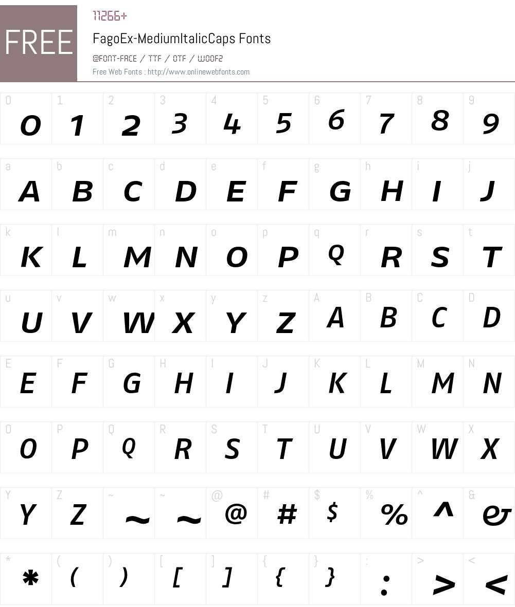 FagoEx Font Screenshots
