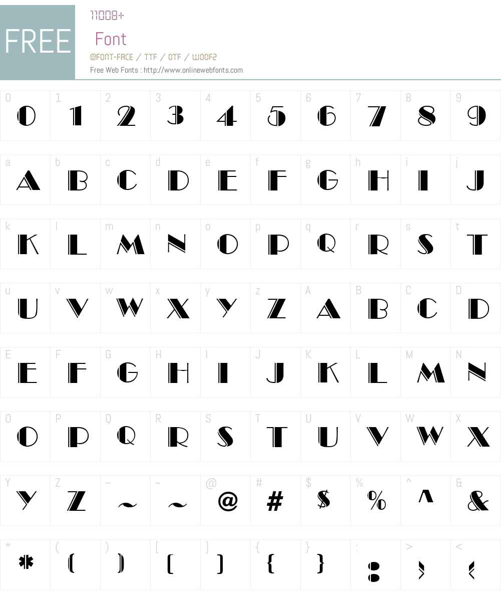 HarlemEngraved Font Screenshots
