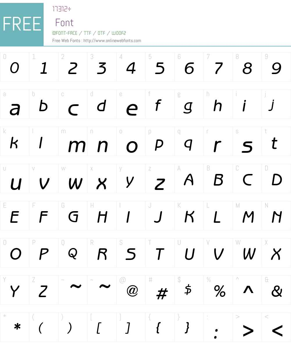 Benjamin-Gothic-Medium Font Screenshots
