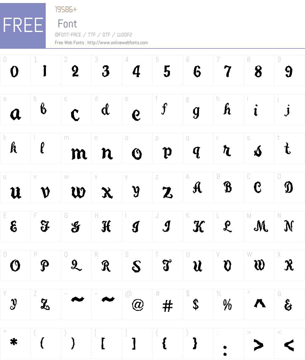 Carefreed Font Screenshots