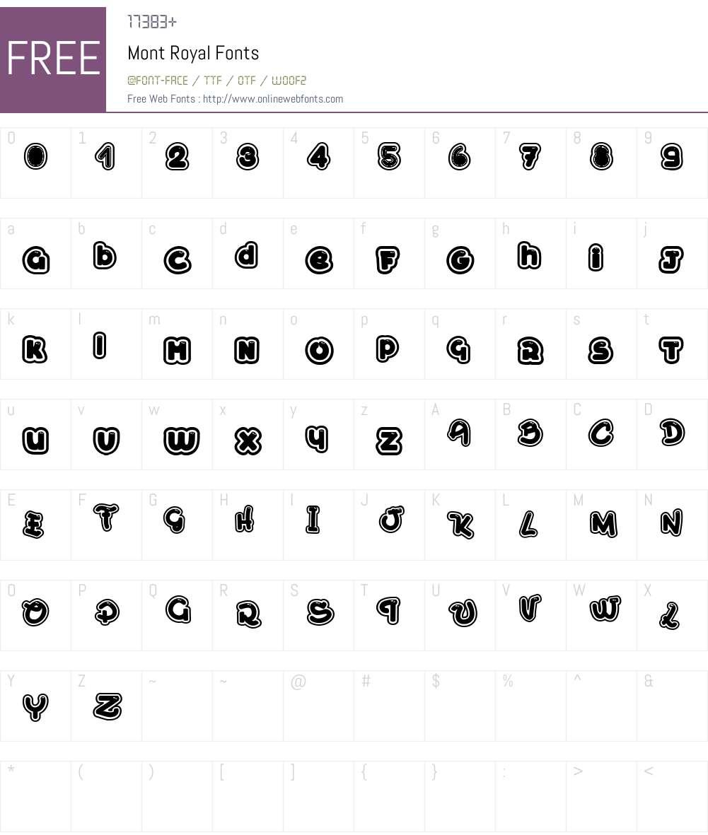 Mont Royal Font Screenshots