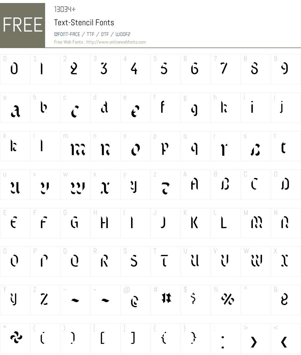 Text Font Screenshots
