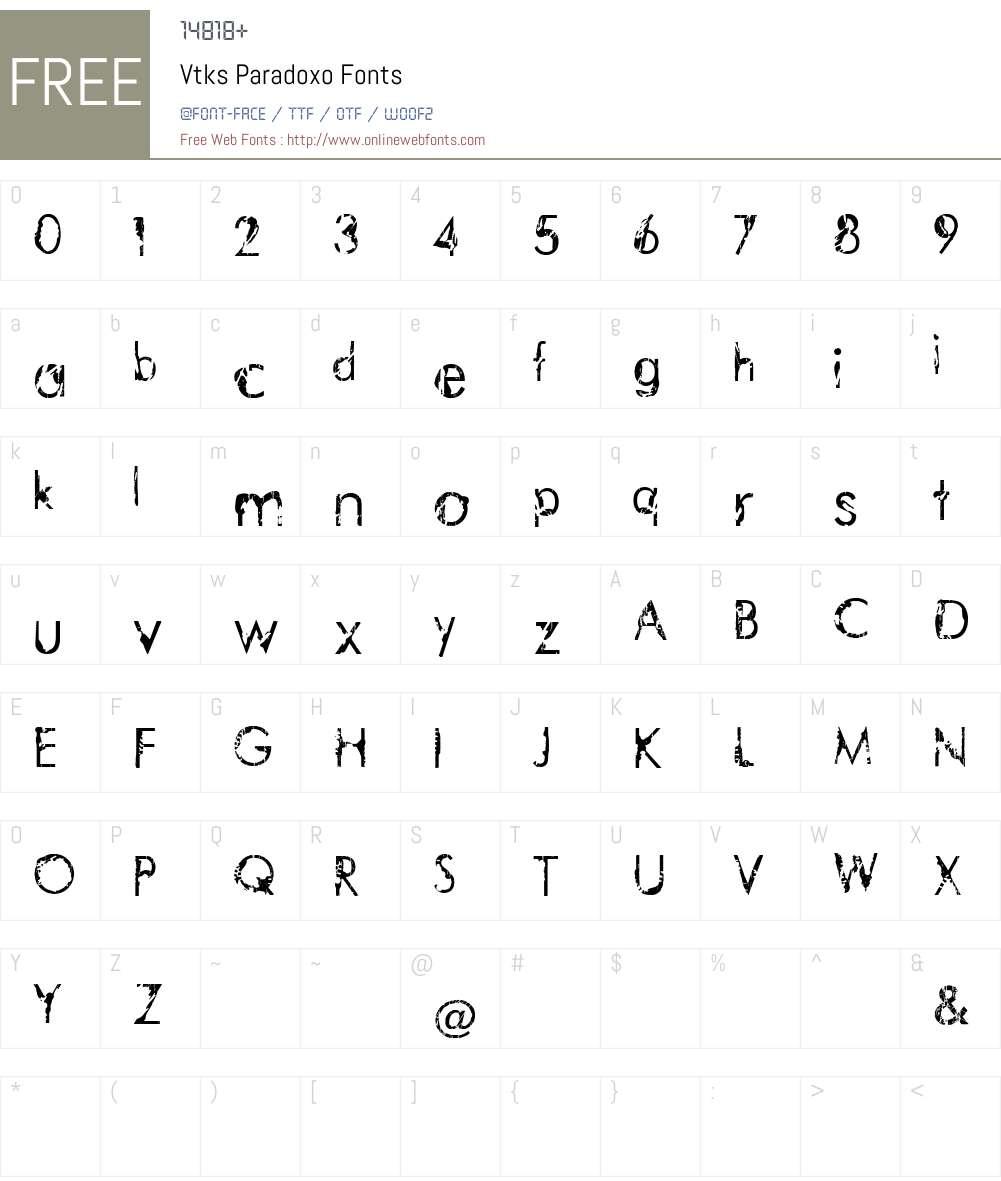 Vtks Paradoxo Font Screenshots