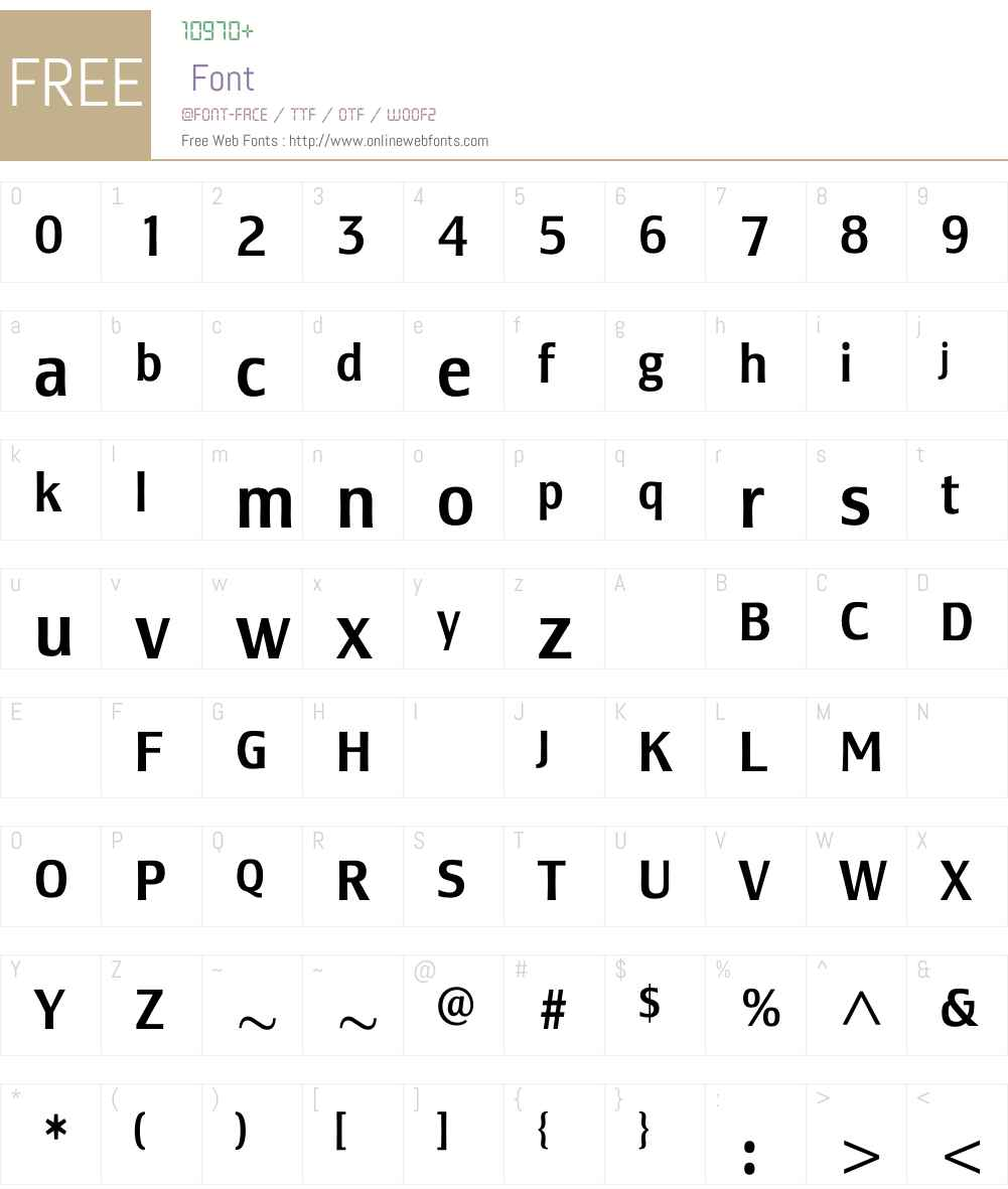 LesmoreMediumCondensed Font Screenshots