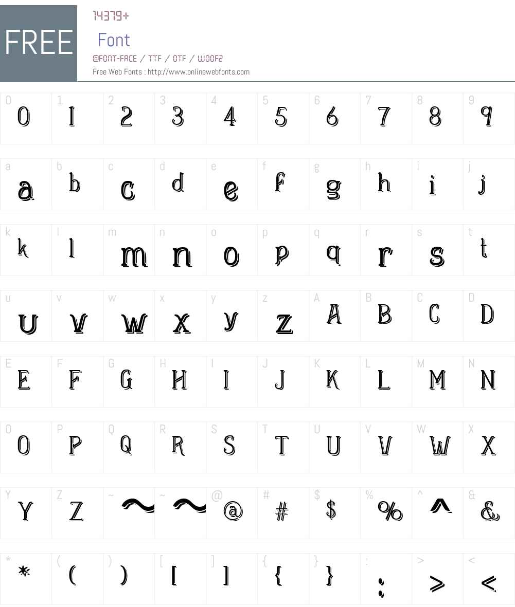 HeleniumMinisculeDemiW01-Rg Font Screenshots