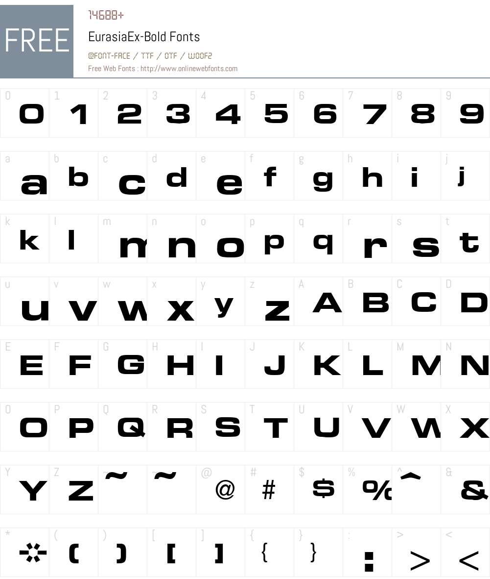 EurasiaEx Font Screenshots
