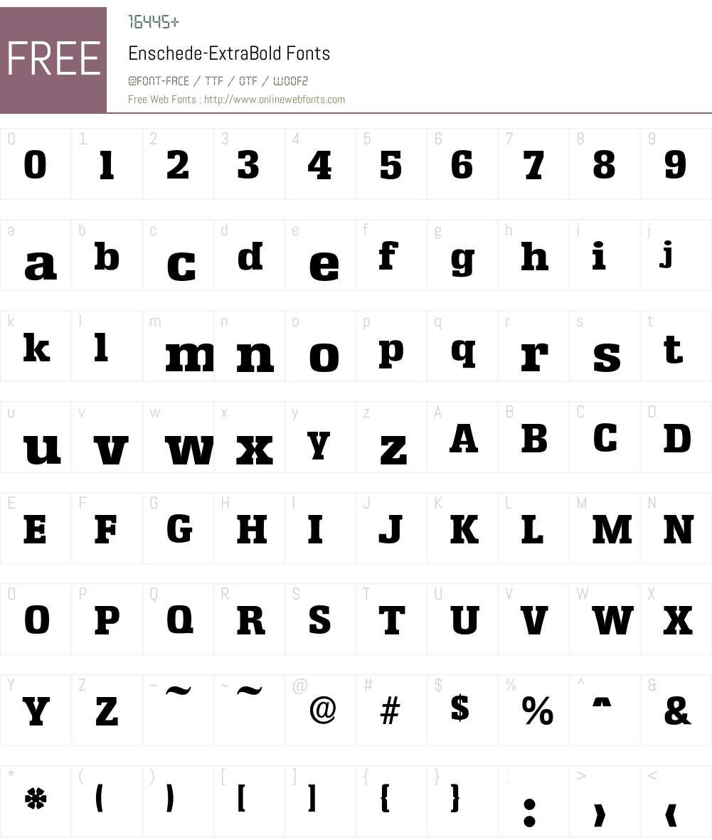 Enschede-ExtraBold Font Screenshots