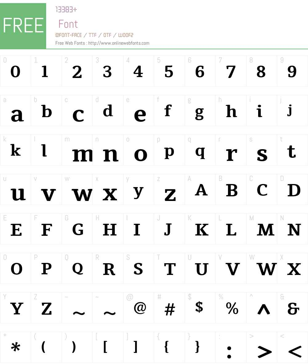 Tienne Font Screenshots