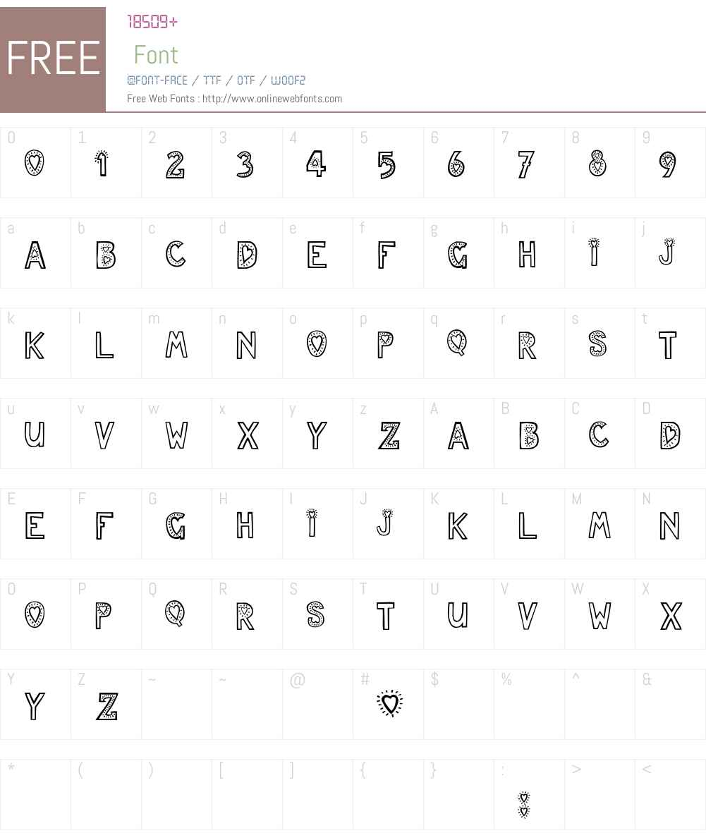 JulesLove Font Screenshots