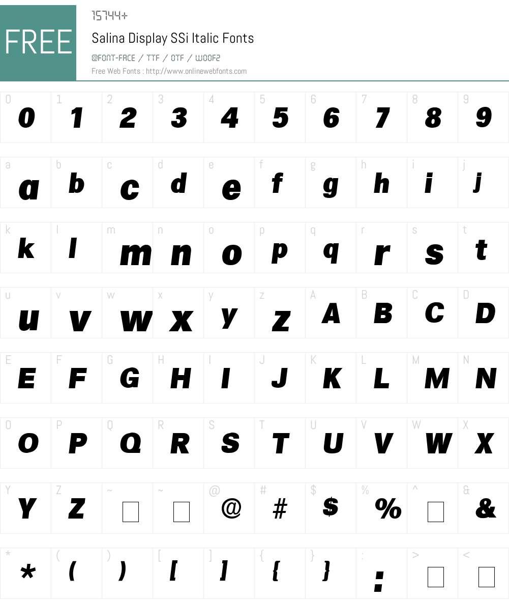 Salina Display SSi Font Screenshots