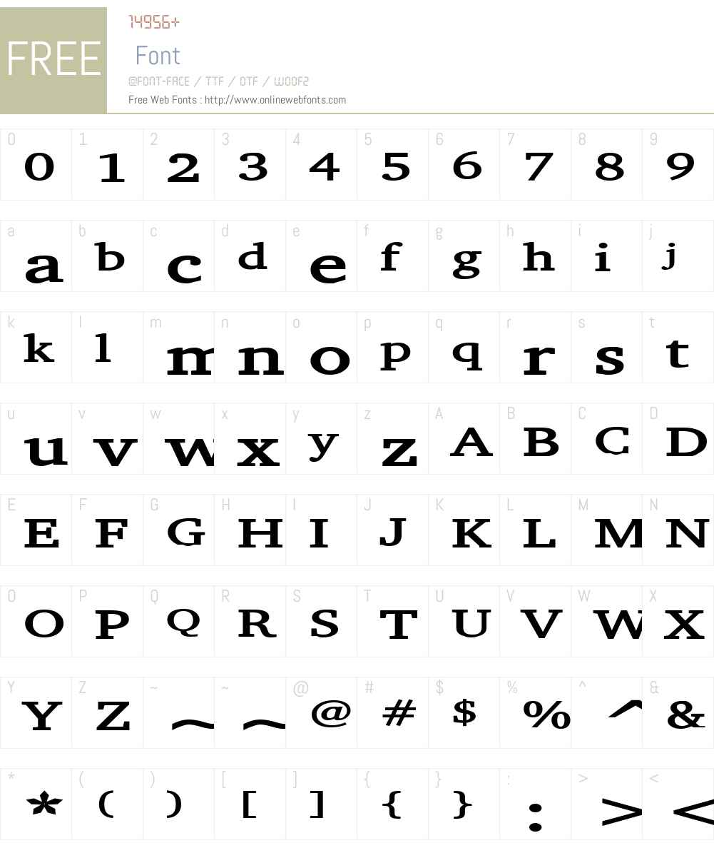 Challenge Extended Font Screenshots