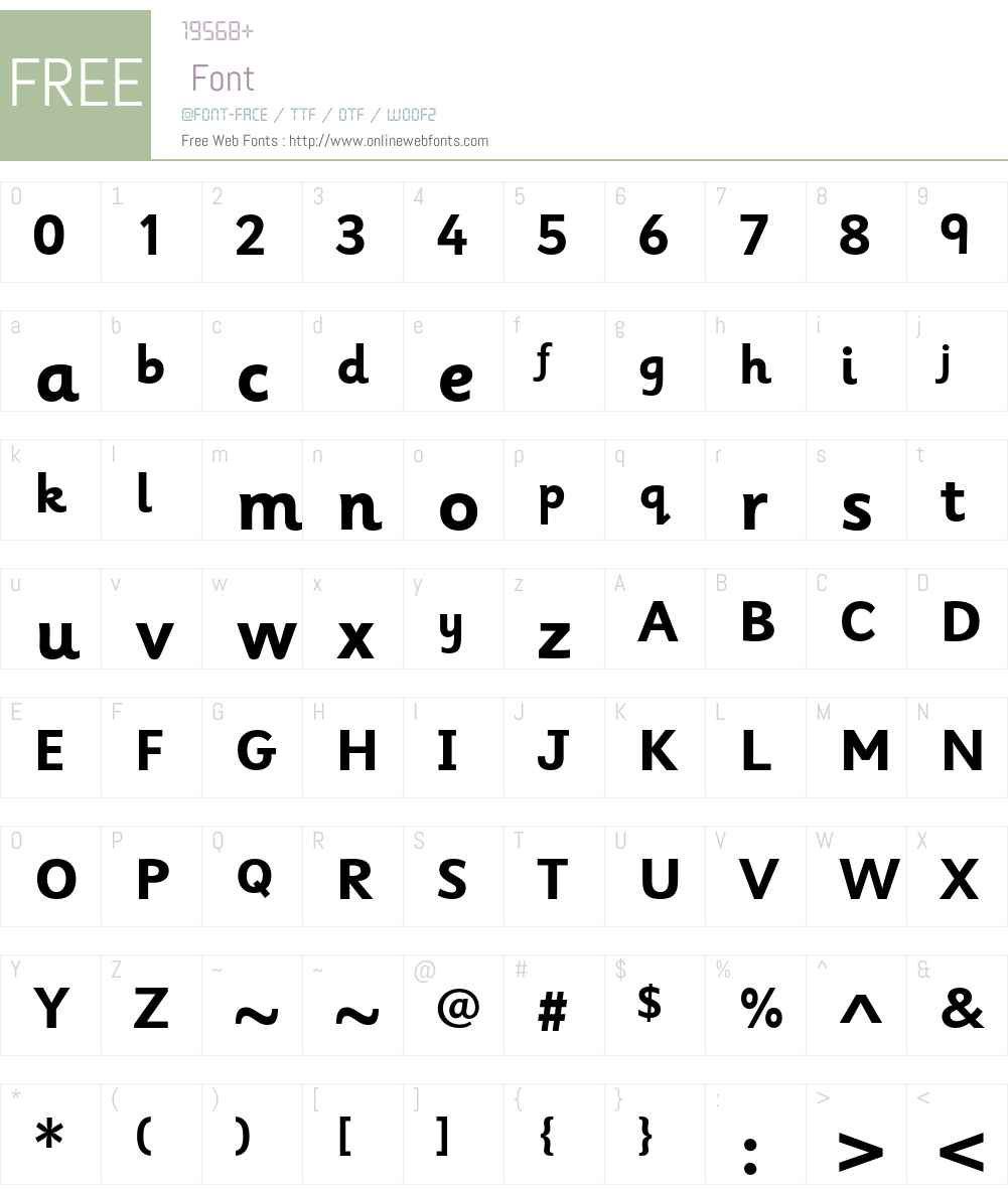 Sassoon Infant Std Font Screenshots