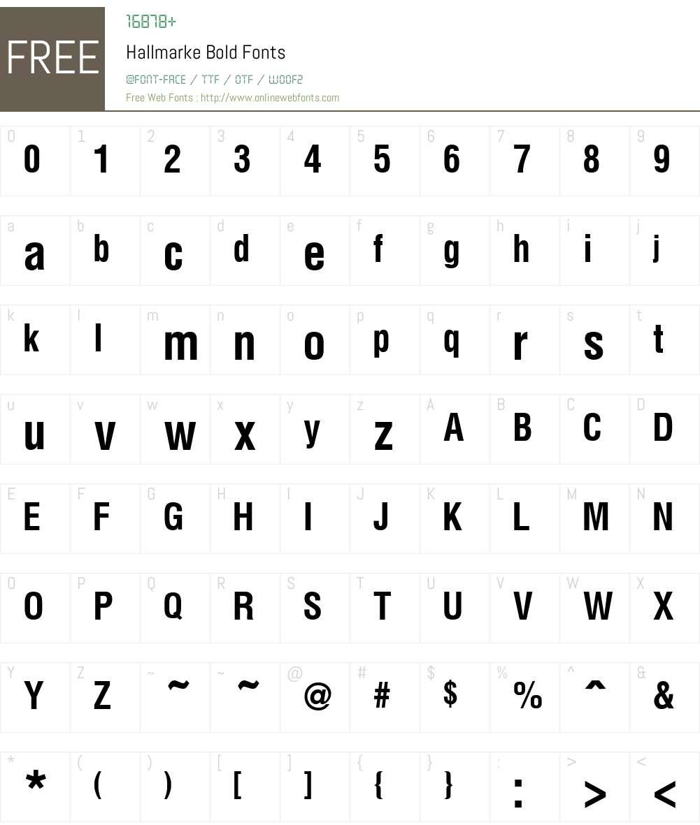 Hallmarke Font Screenshots