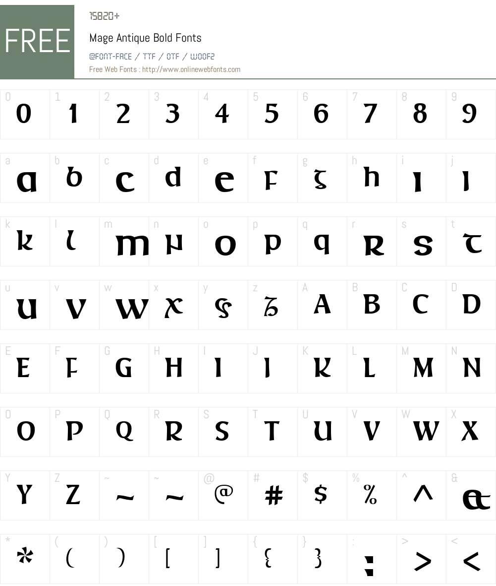 Mage Antique Font Screenshots
