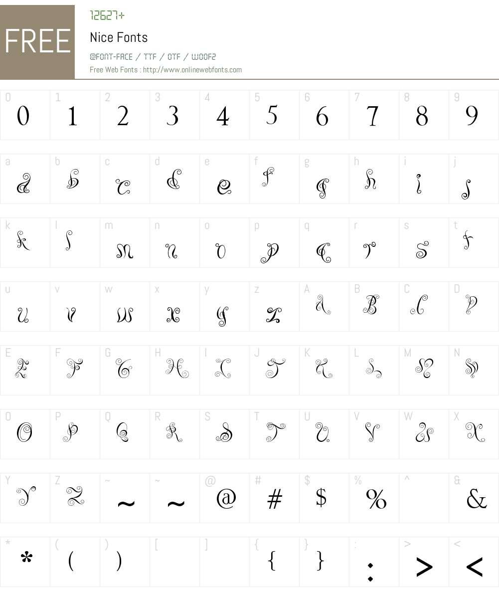 Nice Font Screenshots