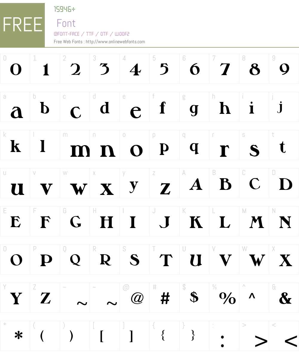 MusketeerW01-ExtraBold Font Screenshots