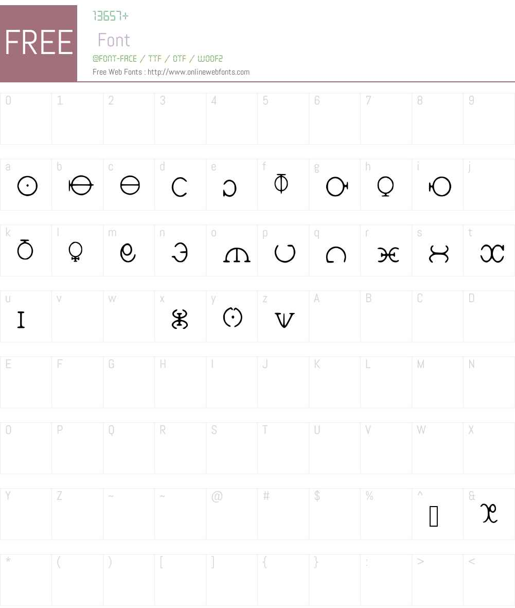 HGODCipher Font Screenshots