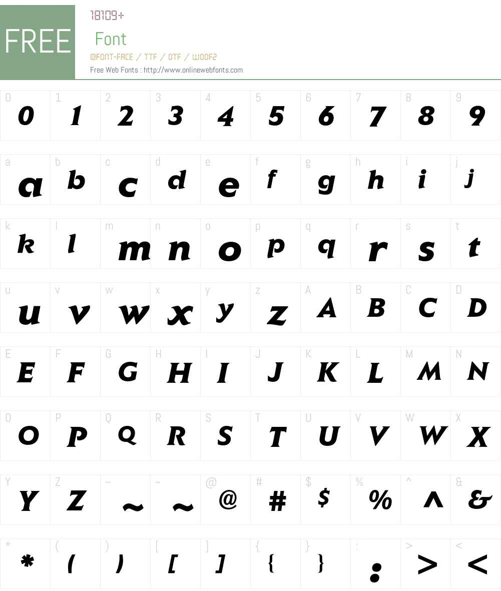 Elan BQ Font Screenshots