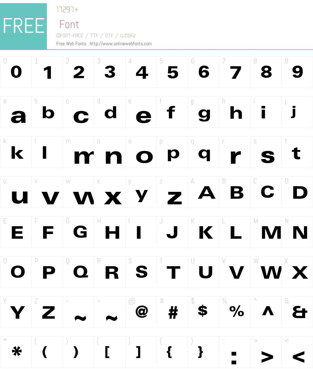 LinotypeUniversW01-HeavyEx Font Screenshots