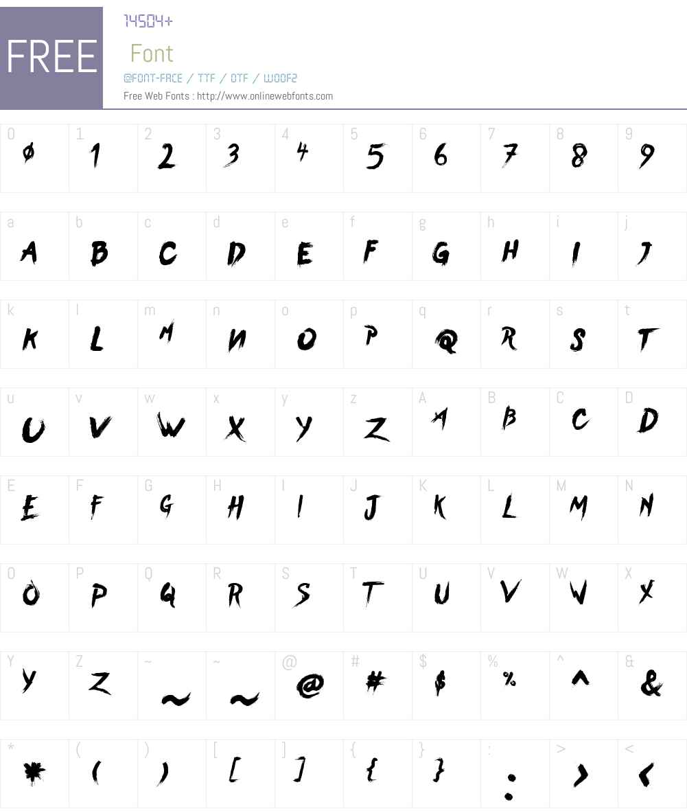 BearHand Font Screenshots