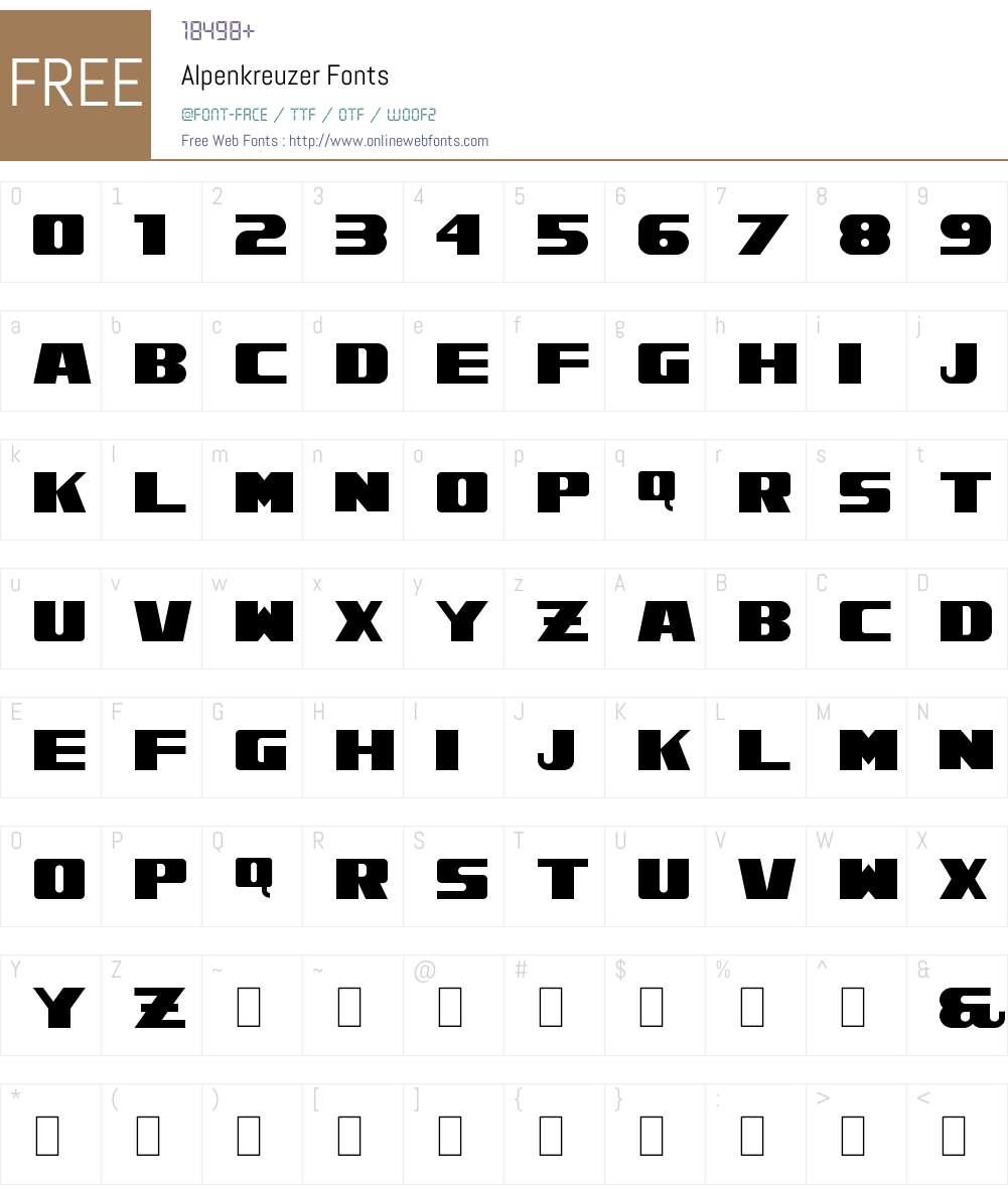 Alpenkreuzer Font Screenshots