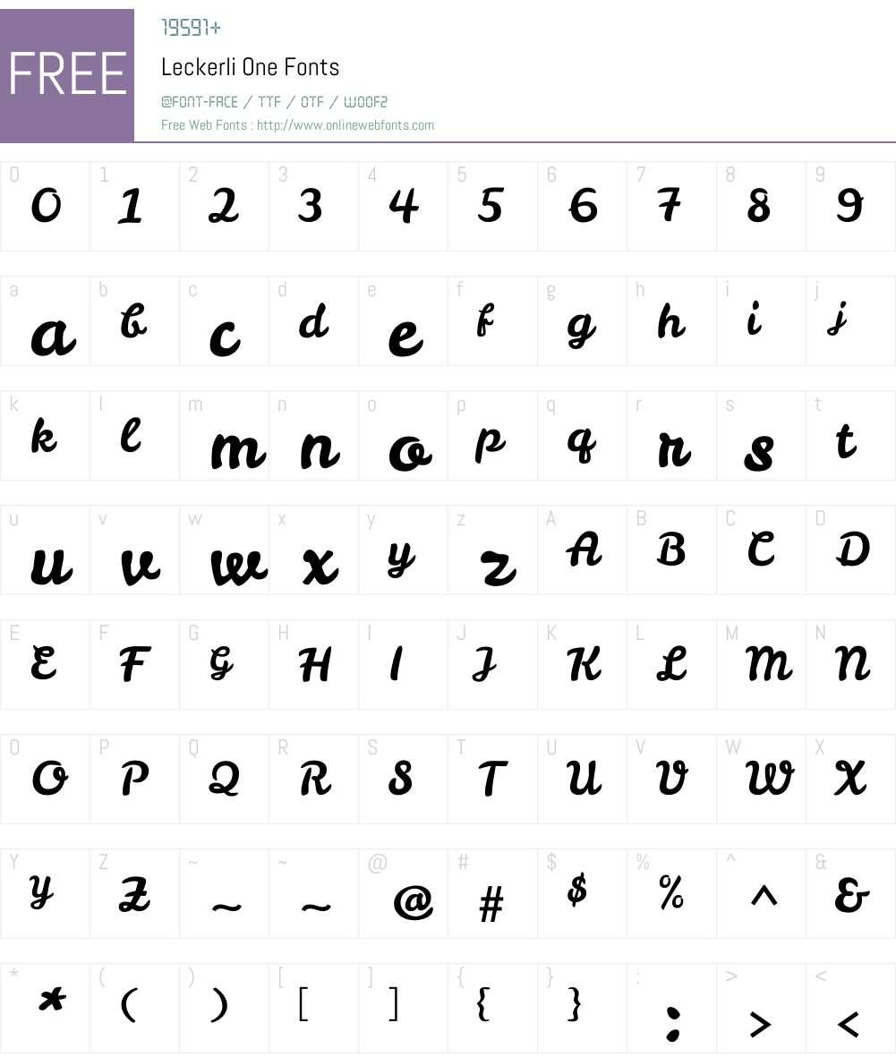 Leckerli One Font Screenshots