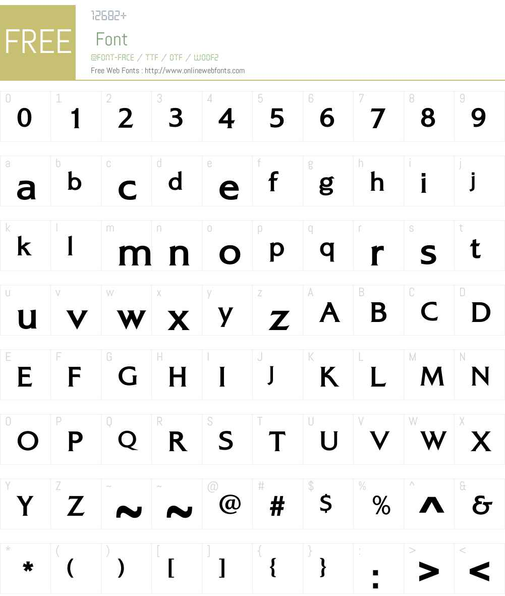 AlexonBold Font Screenshots