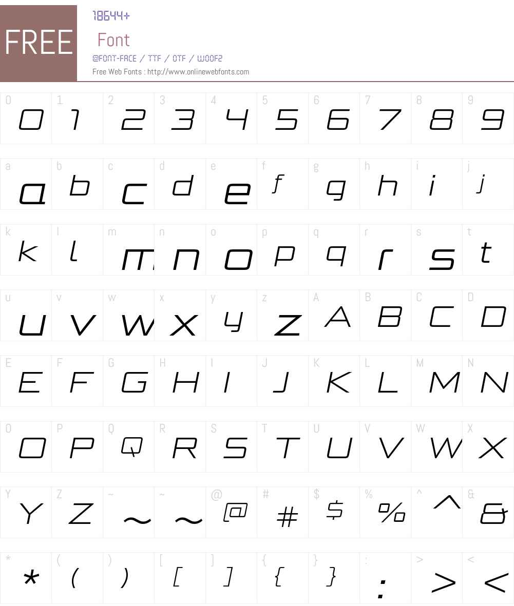 BunkenTechSansProWideW01-LtIt Font Screenshots