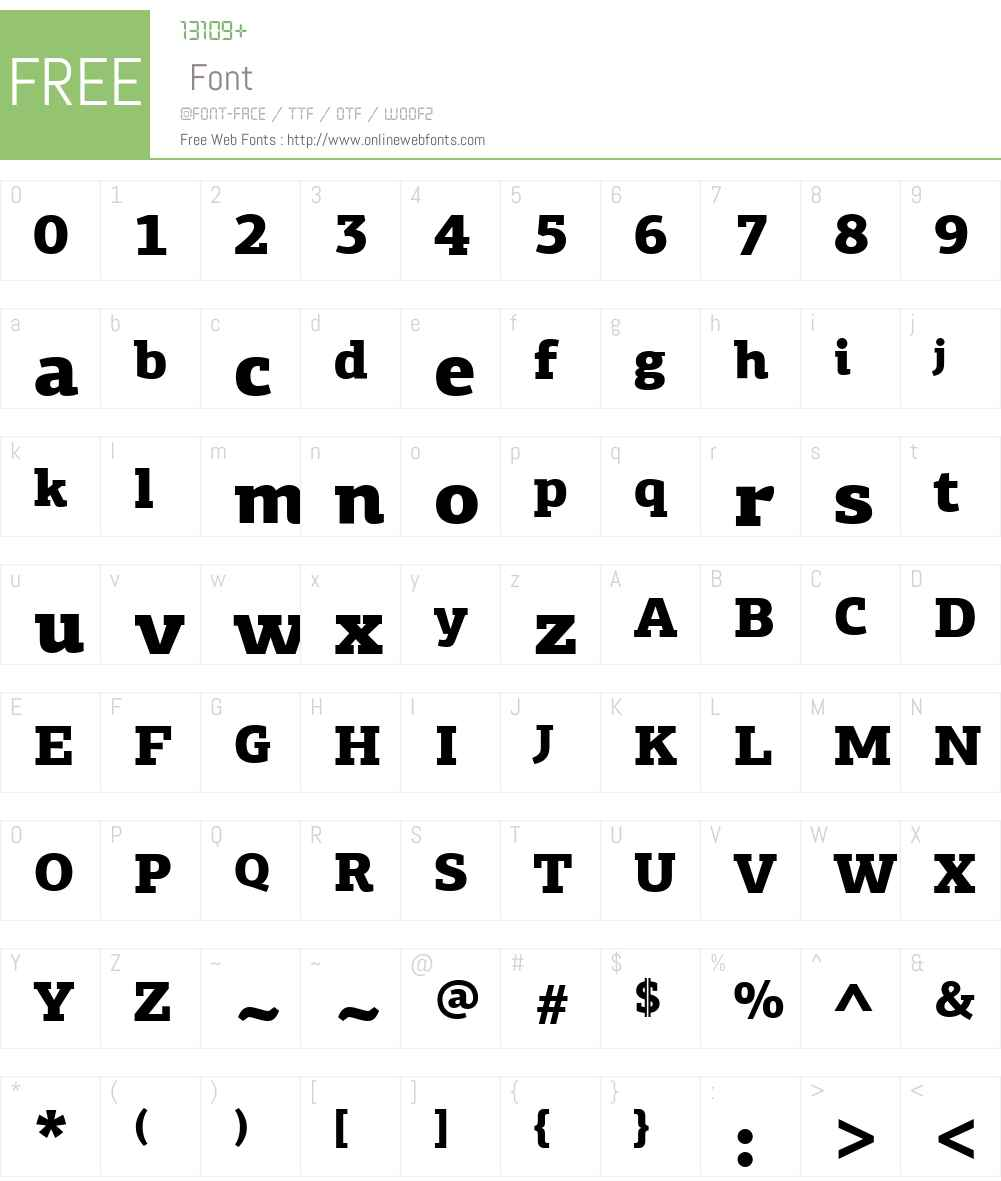 PF Agora Slab Pro Black Font Screenshots